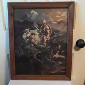 ORIGINAL 1978 Print Frank Frazetta Night Wings